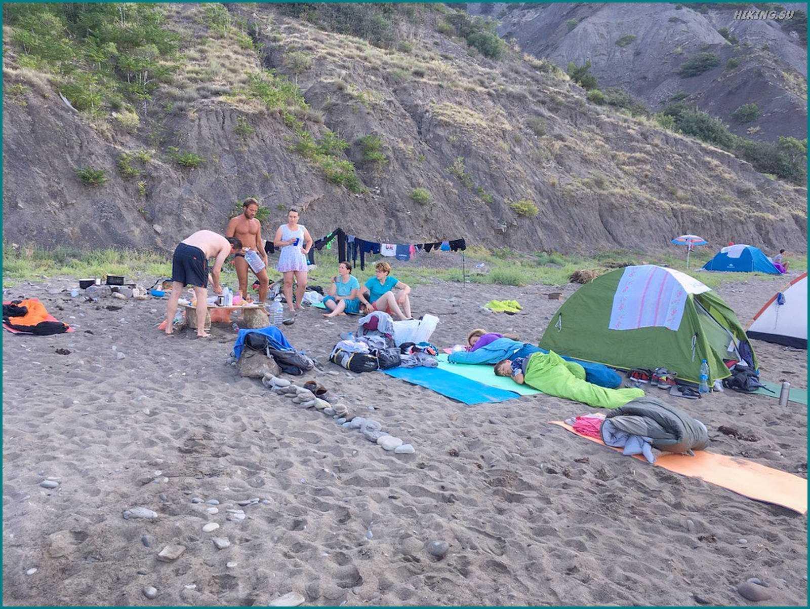 Утро на пляже... Меганом- Сильное Место